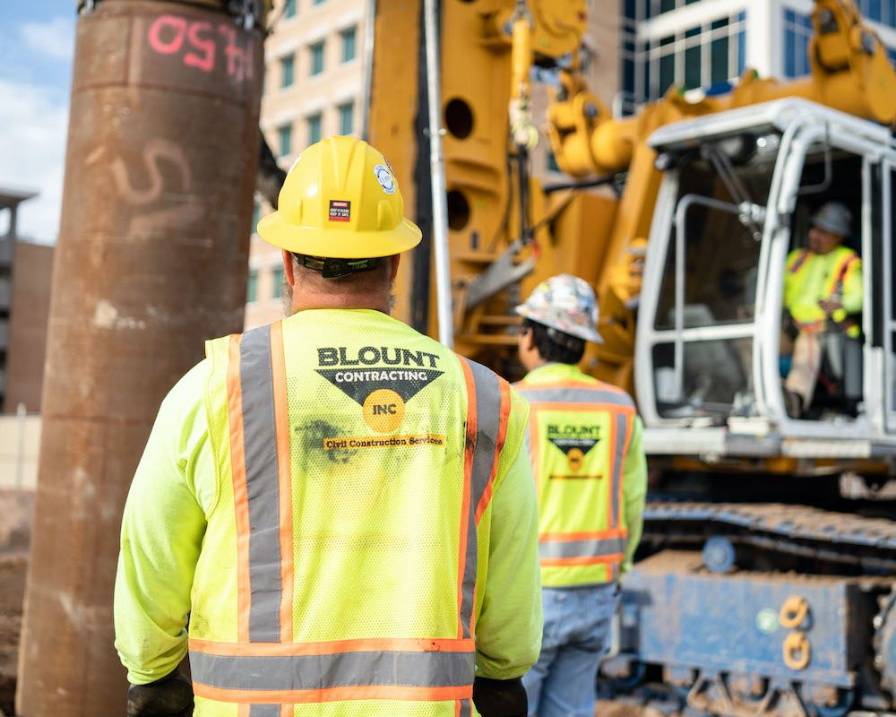 Blount Crew at 100 Mill Office Tower Project