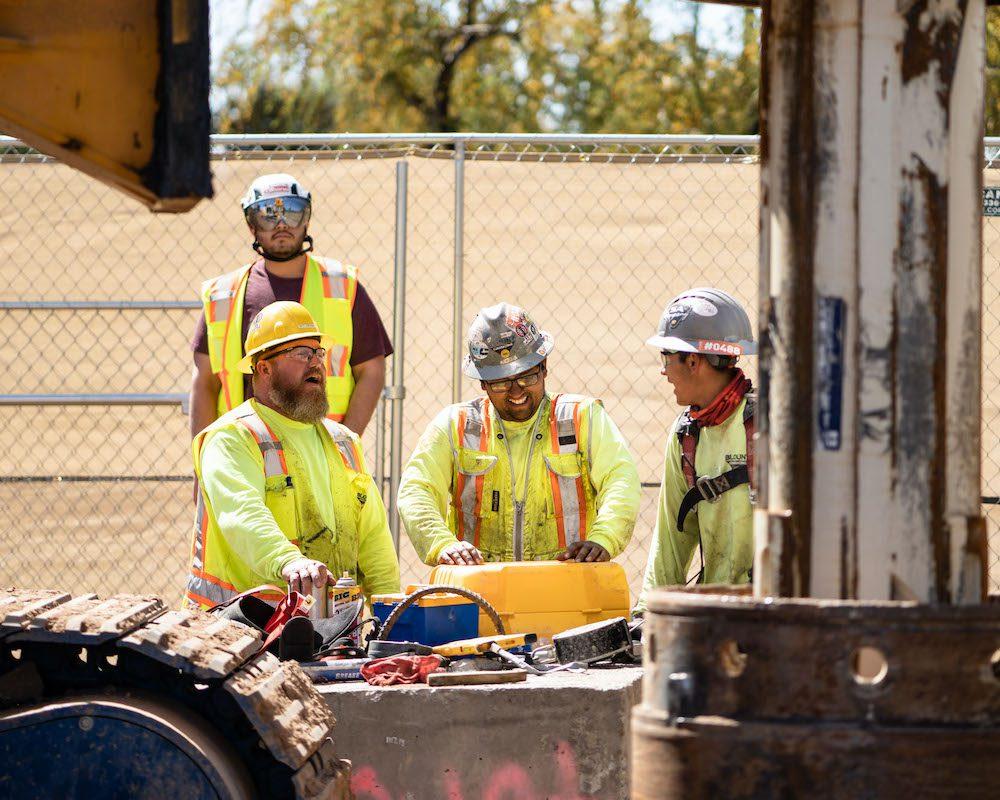 Blount Crew Smiling in Good Spirits at Job Site