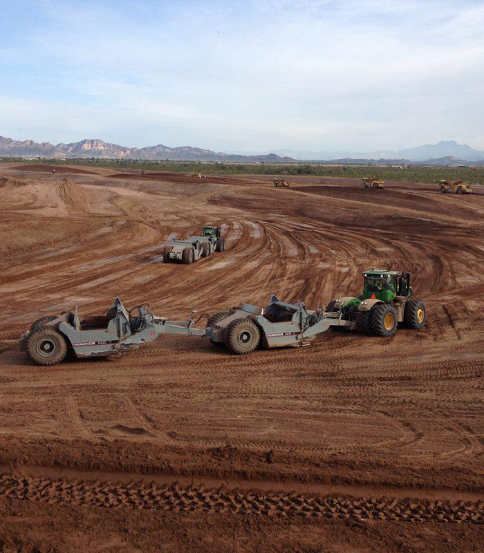 DEERE Heavy Tractors on Project Site