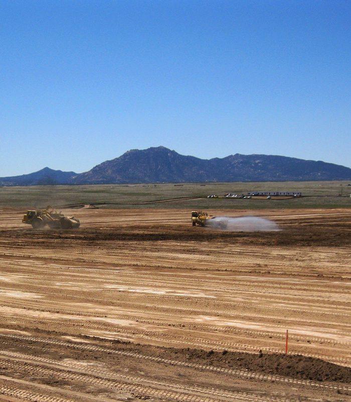 Equipment Driving Through Chino Valley Solar