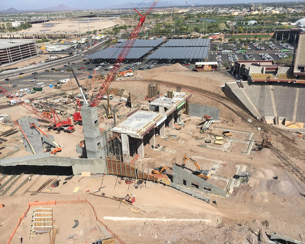 Aerial View of Sun Devil Stadium Renovation Project Site