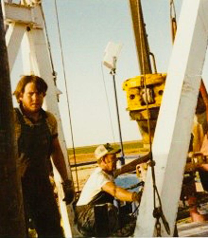 Jerry Blount on Oil Drill Rig