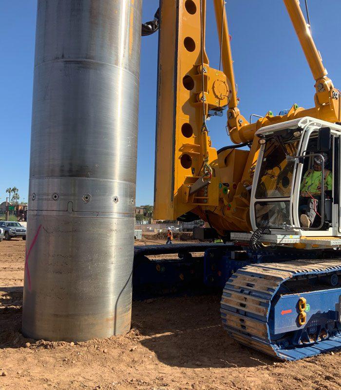 Deep Foundations Installation in Progress at ASU ISTB7