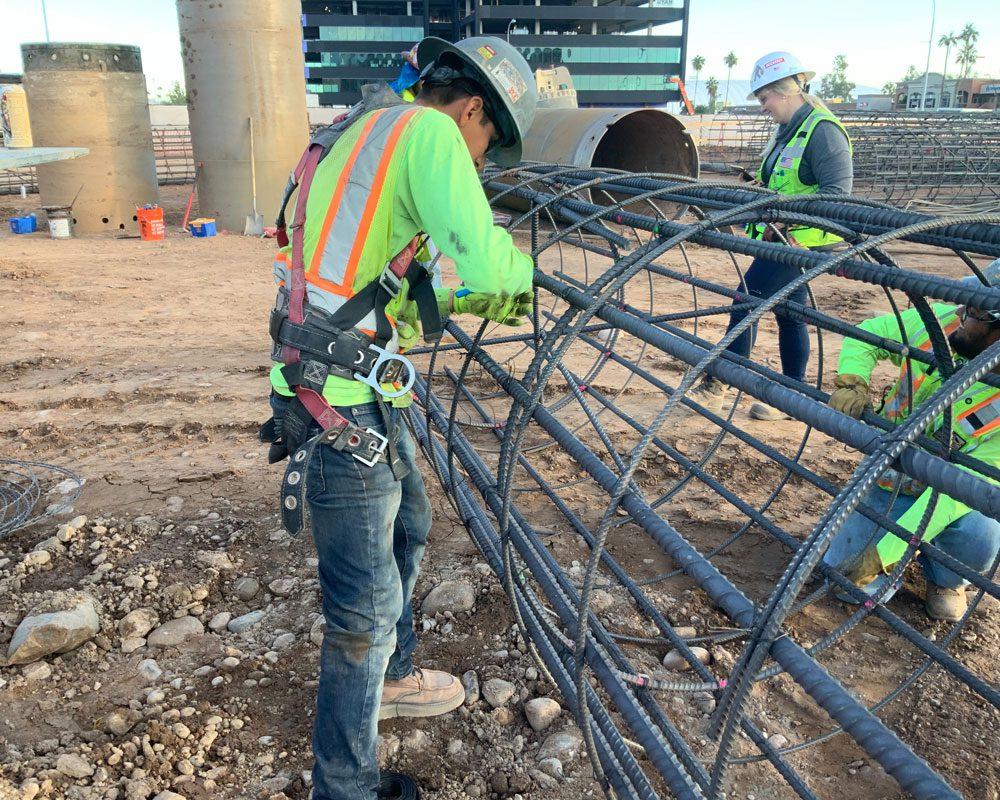 Blount Crew Working on Segmental Casing at ASU ISTB7